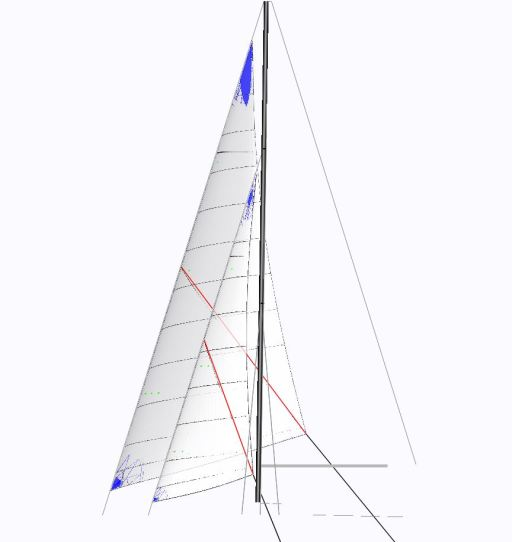Yankee and staysail plan as designed by Owen Sails, Oban, Scotland.
