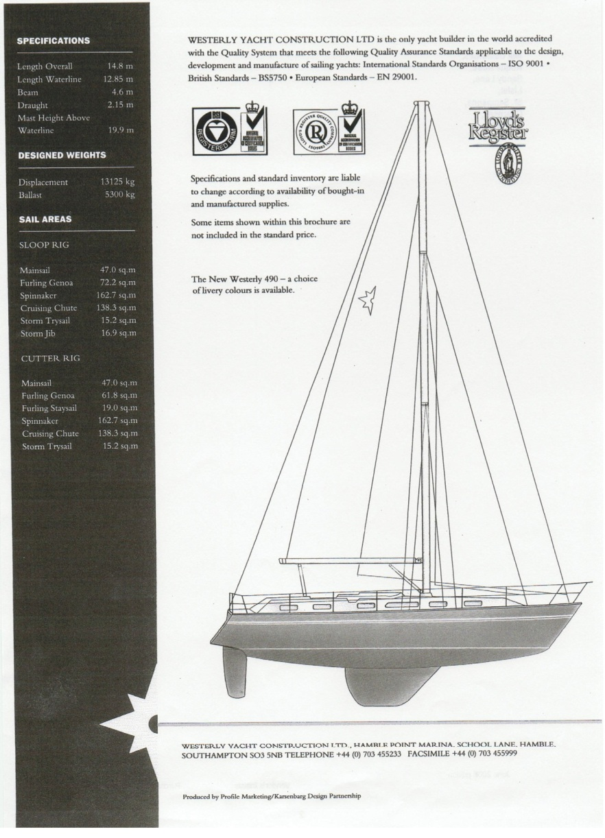 Westerly 49 Brochure Cover