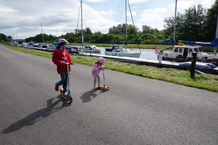 Scooting along the canal